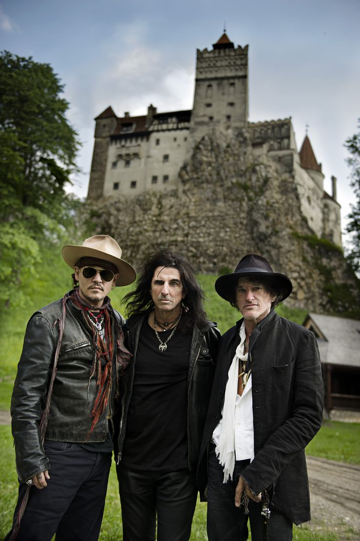 Hollywood Vampires | Johnny Depp, Alice Cooper and Joe Perry.