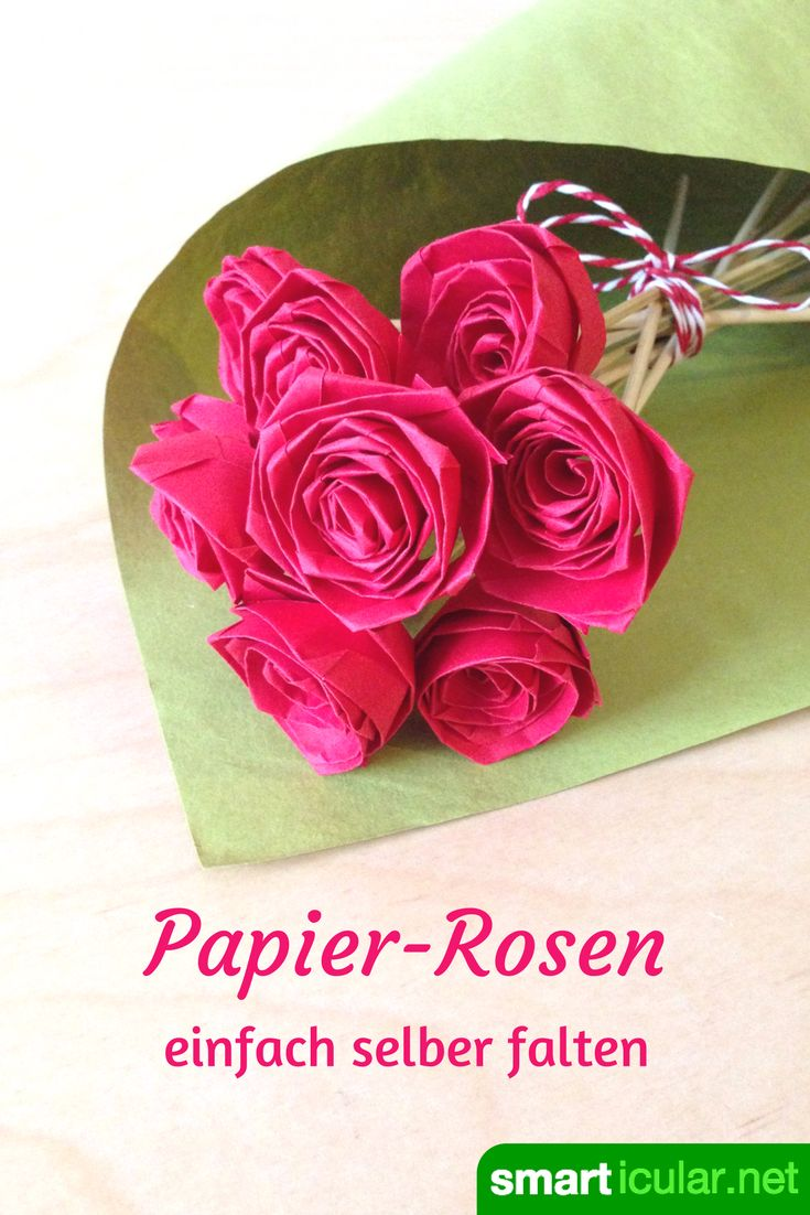 Teure Rosen aus Afrika einfliegen lassen? Das muss nicht sein, diese selbstgemachten Blüten sind leicht, preiswert und halten ewig!