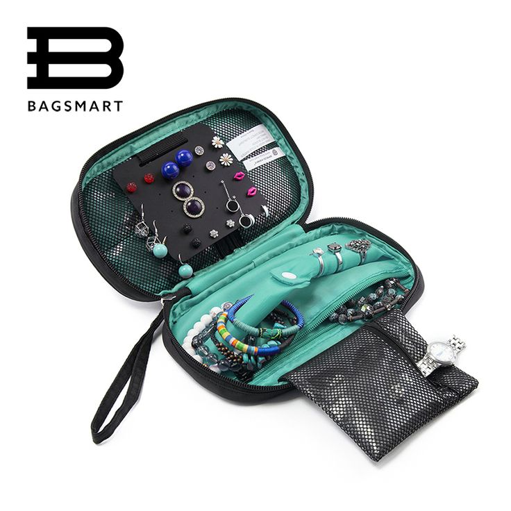 BAGSMART 2016 Women Cosmetic Bag Storage Bag Jewelry Holder Necklace Bracelet Ear Ring Pouch Organizer Bag Jewelry Packing  Bags