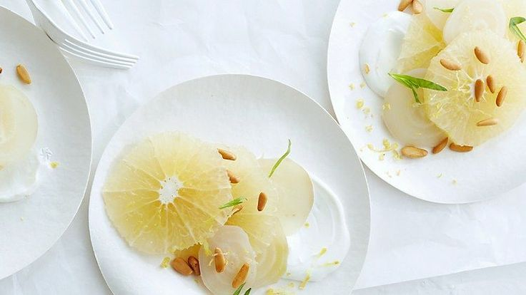Grapefruit and White Beets with Yogurt and Tarragon Recipe | Bon Appetit