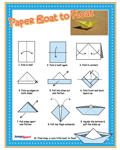 Origami! Test the waters with 'Paper Boat to Float' origami craft. Cheap, easy, & fun! :)