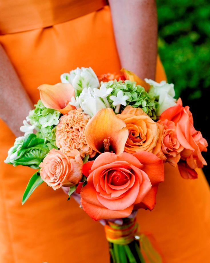 Tangerine orange and bright green bridal bouquet Evantine Design  Stacey  Kane Photography135 best Orange Wedding Inspiration images on Pinterest   Orange  . Orange And Lime Green Wedding Theme. Home Design Ideas