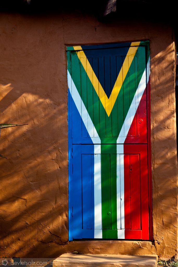 South African Flag Door.  Durban, Kwazulu Natal | ©Devletsah, via flickr