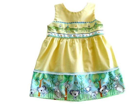 Australia day dress for 2 year old girl  toddler party dress