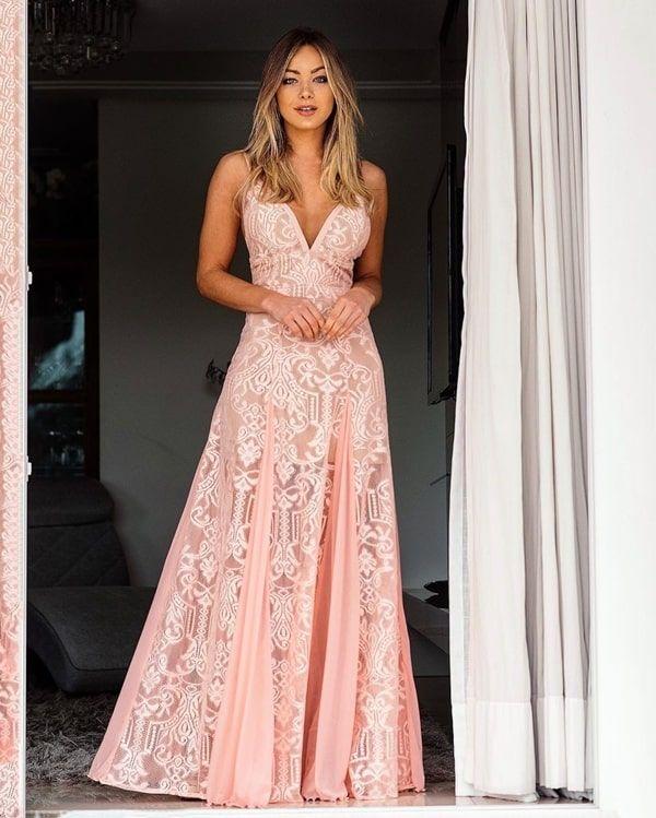 Vestido rosa para madrinha de casamento: 50 vestidos de festa longos em vários tons de rosa nos modelos que estão em alta na moda festa para… | Dresses, Strapless dress formal, Fashion