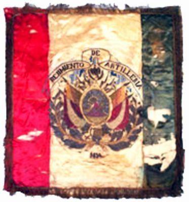 Estandarte del Regimiento de Artillería boliviana capturado durante la Guerra del Pacífico