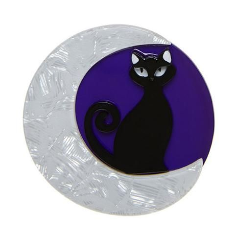 Image result for erstwilder brooches halloween cat