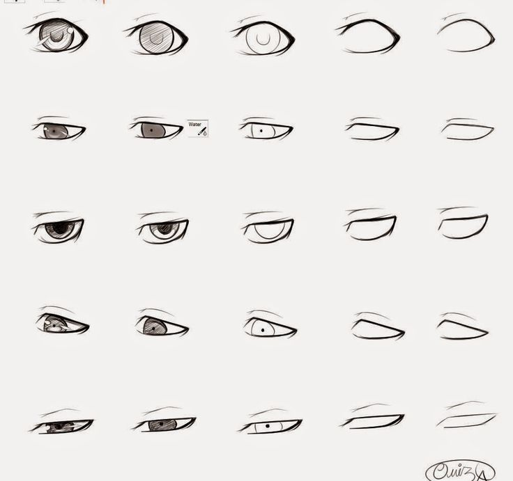 How to draw anime male eyes step by step - Learn To Draw And Paint