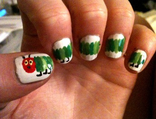very hungry caterpillar nails