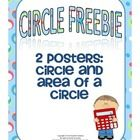 2 Posters:  Circle Area of a Circle  **These are part of a paid Circle Poster  set from my store....