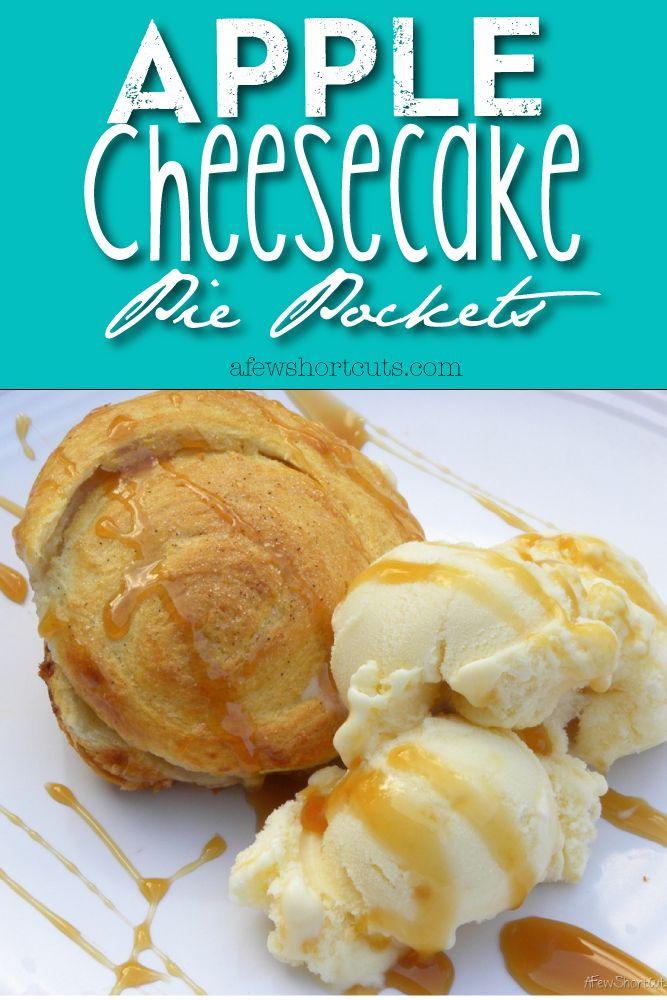 Apple Cheesecake Pie Pockets Recipe. Easy date night dessert!