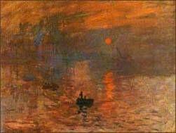 해돋이  클로드 모네 Claude Monet(1840~1926)1872년, 캔버스에 유채, 50x 65cm    30대에 모네는 인상파를 대표하는 위 작품을 그리게 된다.  해가 떠오르는 강렬한 색채는 이후의 인상파 작가들에게 큰 영향을 주게 되었고 많은 사람들에게 깊은 인상을 주게한 작품이었다.