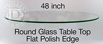 Round Glass Table Thick Polish | Garland