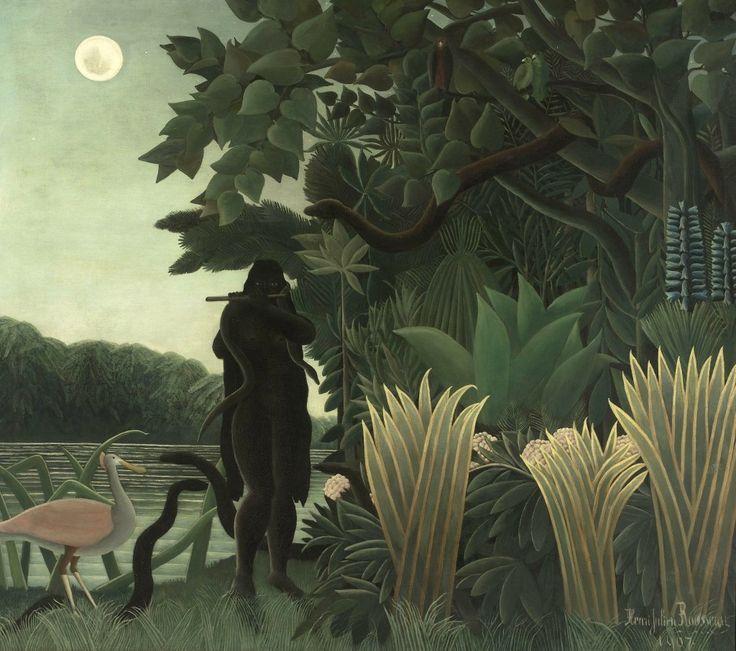 L'incantatrice di serpenti, 1907 -Henri Rousseau.