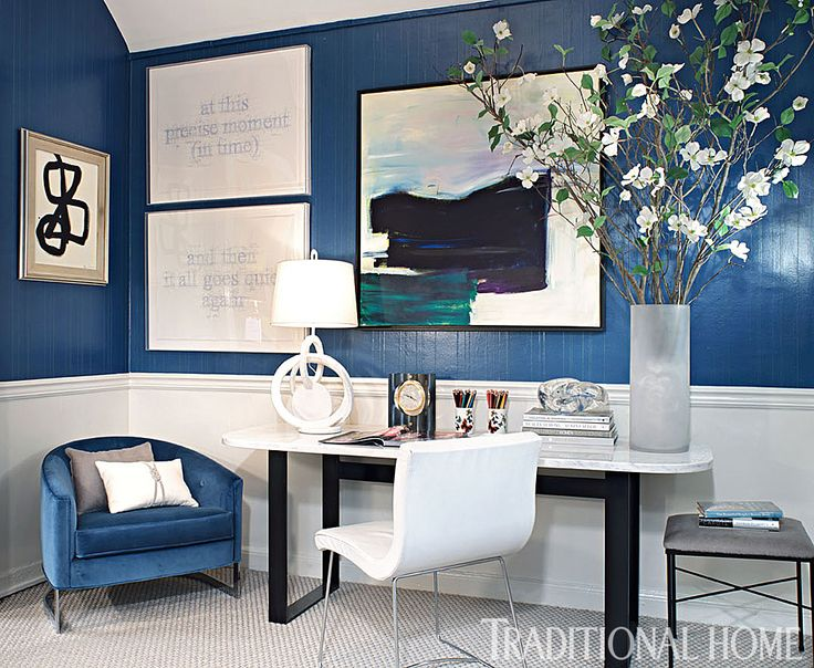 This Sophisticated Office Space Was Inspired By Jacqueline Kennedy.    Photo: Peter Rymwid / Design: Rachel Laxer   Home Decor Idea