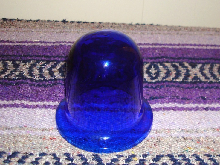 Cobalt Blue Glass Lamp Globe Shade
