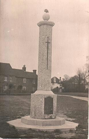 The Leverstock green war Memorial.