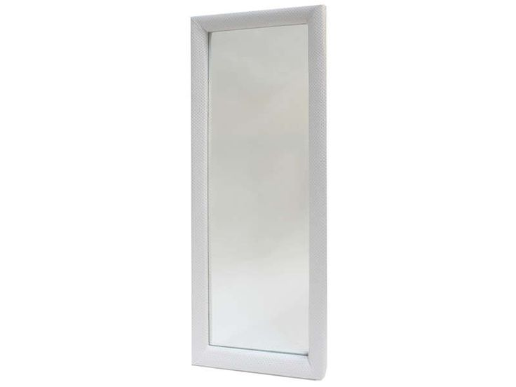 Miroir pas cher Conforama, achat Miroir cadre capitonné BOUDOIR Coloris blanc prix promo Conforama 169.00 € TTC