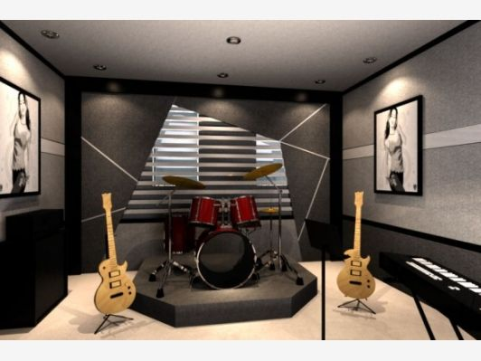 Small Minimalist Of Home Music Studio Ideas Diamondb Decorating Home Music Studio Design Ideas