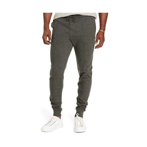 Ralph Lauren Big & Tall Ribbed Cotton Jogger ($50) ❤ liked on Polyvore featuring men's fashion, men's clothing, men's activewear, men's activewear pants and ralph lauren