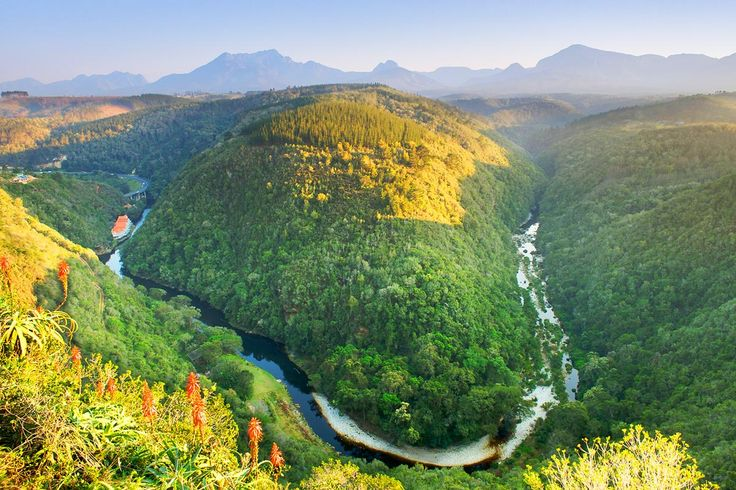 The Kaaimans River, along the Garden Route is located between Mossel Bay and Knysna. This wild area is covered with verdant nature and colorful flowers. It makes it a remarkable place to have a rest and enjoy the peacefulness of South Africa.