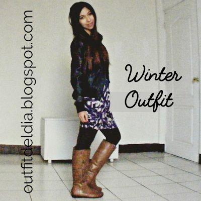 OUTFIT DEL DÍA: Outfit del día: Look con botas cafés o marrones