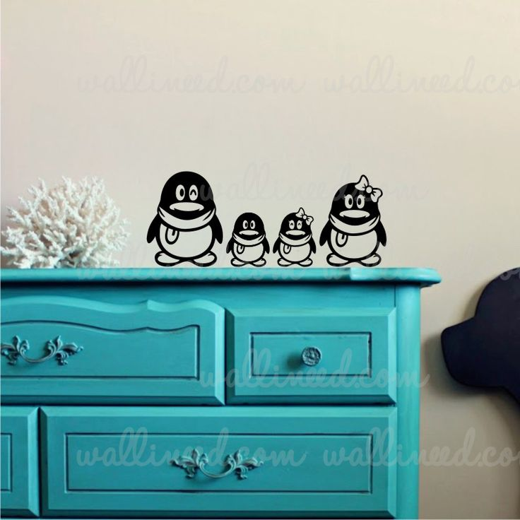 Penguin Family Wall Decal