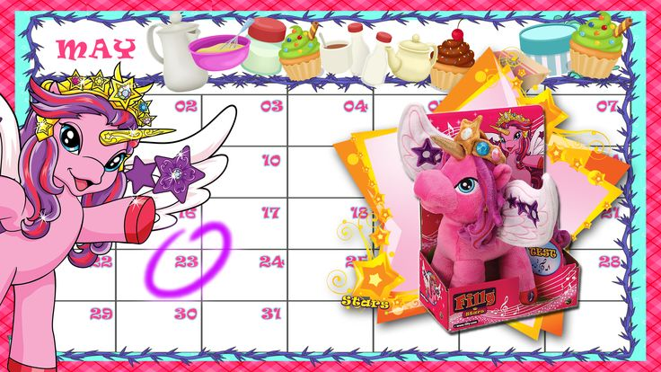 Cassiopeia is going to invite all the Filly Stars for a Cup Cake Party, she needs someone help her to prepare the cup cakes.  Send in your cup cake photo by May 23rd to win a prize of Plush Cassiopeia.