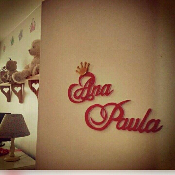 Nombres decorativos en mdf para habitaciones infantiles. Instagram: @am_shanti