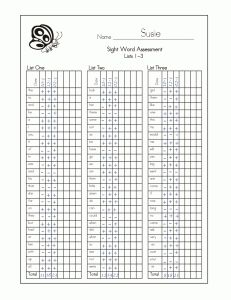 FREE sight word assessment and progress monitoring materials for the Dolch 220 sight words!  Perfect for RtI.