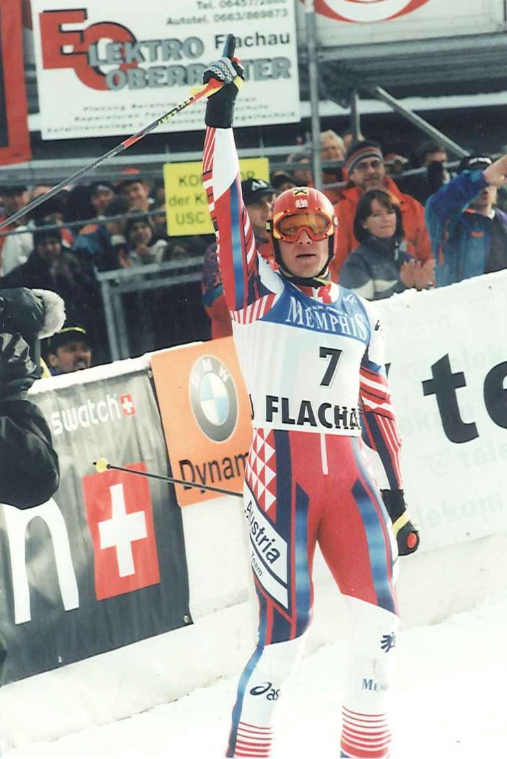 Skiweltcup Flachau 1999, Hermann Maier wird 3. im Riesentorlauf von Flachau 1999