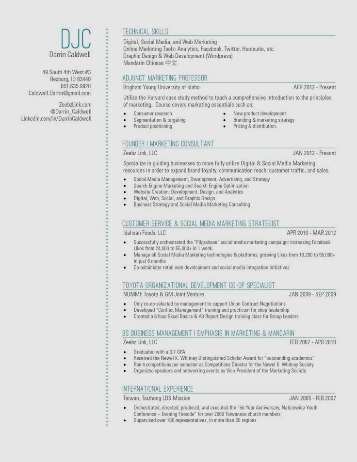 My New Resume Design With A Touch Of Blue
