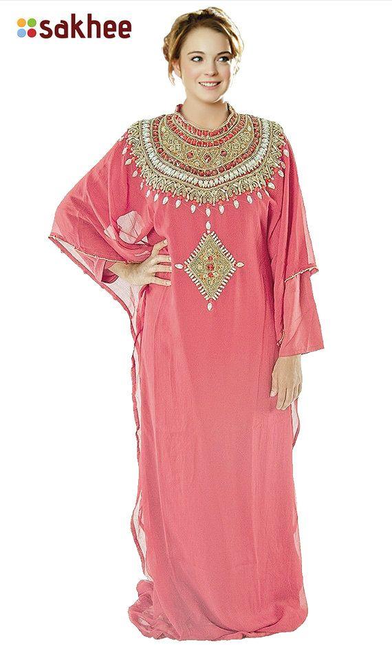 Alabia jalabia dubai fancy kaftan farasha wedding gown beaded chiffon  farasha caftan desinger wedding gown beaded