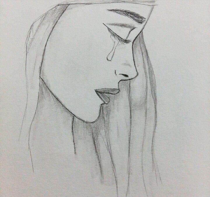 Красивые картинки для срисовывания грустные