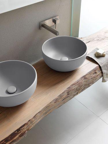 Lavabo da appoggio / rotondo / in ceramica / moderno SHUI - BRINA Ceramica Cielo