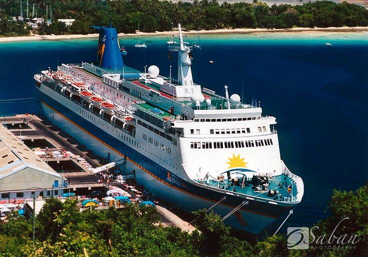 The Pacific Sky P Cruises in Port Vila, Vanuatu 2001- www.sabanphotography.com
