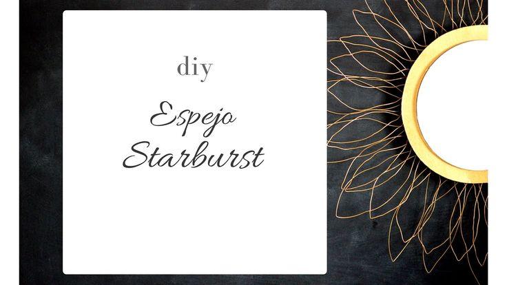 DIY espejo starburst!!! / DIY starburs mirror
