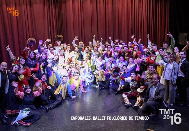 Ballet Folclórico de Temuco ,  luego de finalizar su presentación