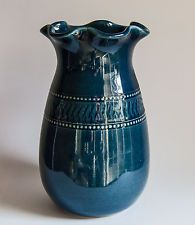 Bendigo - V Large Indigo Blue Vase, Richard Wade. Bendigo Pottery is Australian owned and operated and is Australia's oldest working pottery.  Established in 1858 the pottery has operated continuously from the current site in Epsom since 1863.