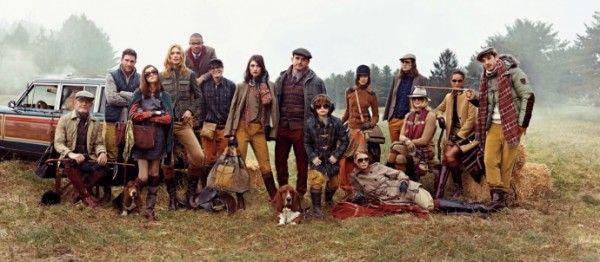 Рекламная кампания осеннее-зимней коллекции Tommy Hilfiger, английская чопорность на лоне природы   Brandgid