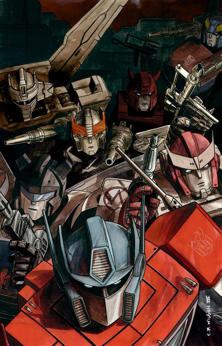 Autobots - Optimus, Ratchet, Jazz, Prowl, Cliffjumper, Wheeljack, Smokescreen