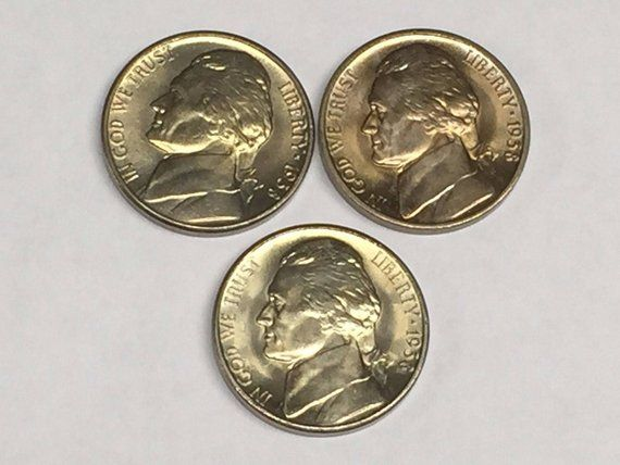 1963 ~  GEM BRILLIANT NICKEL ROLL OF 40 COINS JEFFERSON  Philadelphia  MINT