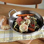 春野菜と金目鯛の蒸し煮