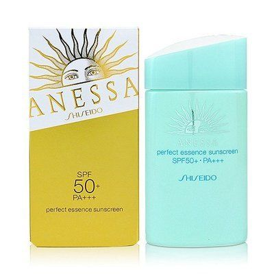 Shiseido Anessa Perfect Essence Sunscreen SPF50+ PA+++ 60ml by Shiseido. $41.99. A weightless daily sunscreen Features a sweat- & w. Containing gentiana urnula flower extract as well as hyaluronic acid, it keeps skin moisturized, even if the skin is prone to dryness. It makes skin translucent and smooth once it has been spread on skin. The product is suitable for use in ordinary outdoor leisure activities.
