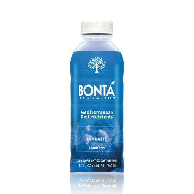 Bontá Immunity blend includes antioxidants and polyphenols from blueberries, pomegranates, and olive fruit.