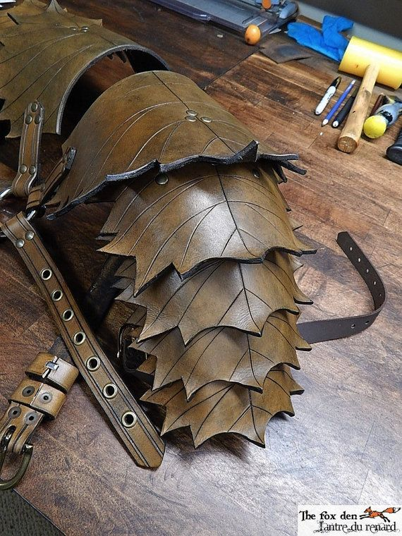Armaduras de cuero hoja hombro versión '' por lantredurenard