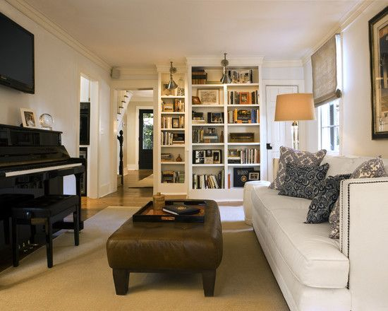 TV Above Piano Room Arrangement