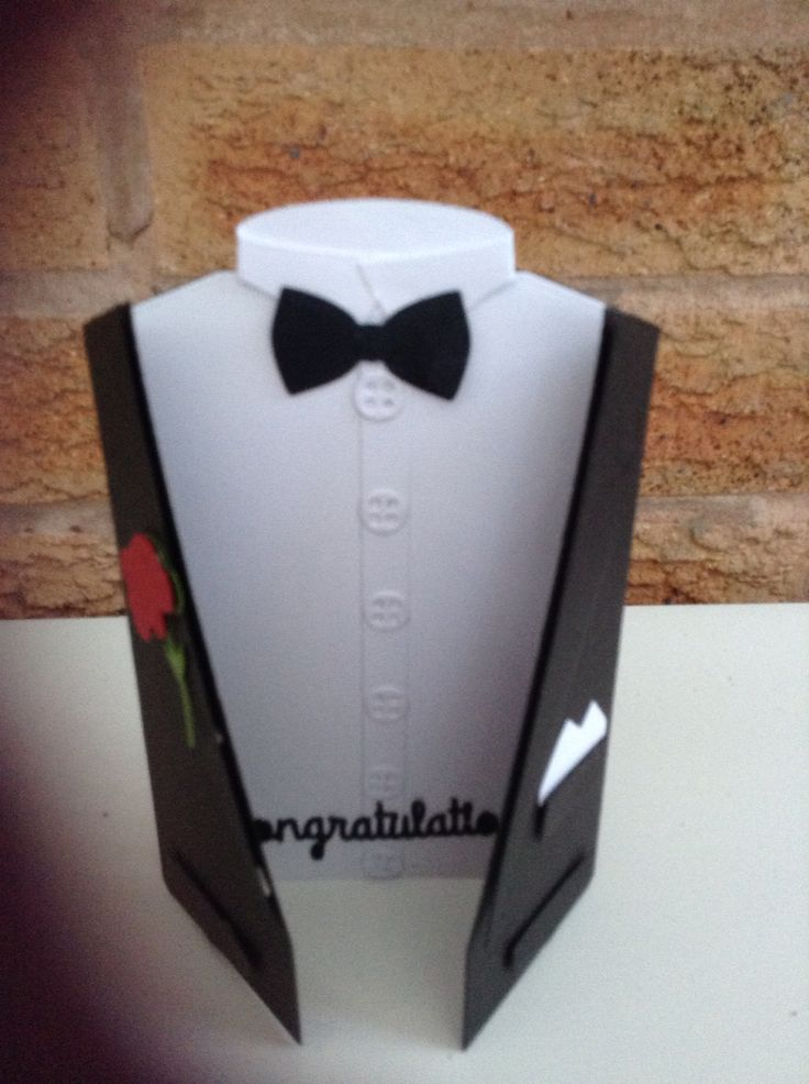 tuxedo card templates and instructions