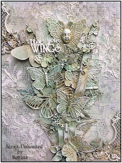 Scrap-Unlimited: Mixed media Use your wings