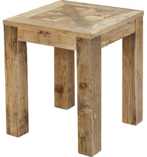 Tivoli Side Table, Recycled Natural Elm